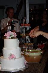 The wedding cake (dididumm) Tags: weddingcake white pink wedding party bride groom braut bräutigam feier hochzeit hochzeitstorte weiss