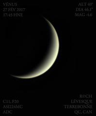 v17-02-27T17_44zWEB (astrorock999) Tags: venus planet planète systèmesolaire solarsystem planetary imaging imagerie planétaire astronomie astronomy croissant crescent