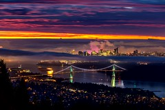vancouver (2500px, 25fps) (PIERRE LECLERC PHOTO) Tags: vancouvercity bc britishcolumbia motion moving animation animated plotagraph pierreleclercphotography clouds fog effect landscape urban cityscape