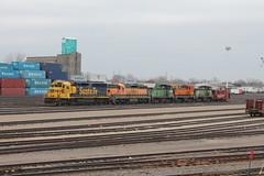 GN 6470 (cc8039) Tags: bnsf trains sd452 sd7 sd9 mp15 sw1500 northtown yard minneapolis minnesota