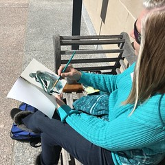 Urban Sketchers KC First Saturday at the Nelson (azorch) Tags: urbansketcherskc nelsonatkins