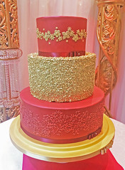 Sequin Red Cake