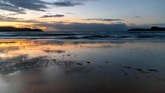 Daybreak Seascape (Merrillie) Tags: daybreak uminabeach sand sunrise clouds nature australia mountains surf sky nswcentralcoast dawn newsouthwales waves water nsw shoreline beach coastal centralcoastnsw umina shore photography waterscape outdoors seascape landscape coast sea seaside