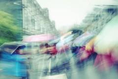 Fragmented stories~ Shanghai (~mimo~) Tags: fujifilmx100t fujifilm oldalley asia photography street rain umbrella blur china shanghai