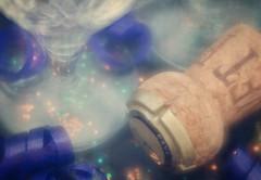 Happy 10 Years (Anne Worner) Tags: 10 macromondays anneworner cava d7000 hmm happytenyears lensbaby nikon ononesoftware velvet56 bokeh celebrate champagnecork closeup cork crystal glass layers macro matte sparkle texture congratulations happy10years
