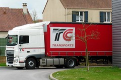 """DAF XF Euro6 460 Semi-Remorque Tautliner """"TC Transports"""" (xavnco2) Tags: longueau somme picardie france camion truck trucks lorry autocarro lkw semiremorque semitrailer tautliner curtainside daf xf euro6 460"""