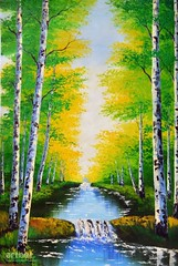 Verdure of the Trees in Spring, Art Painting / Oil Painting For Sale - Arteet™ (arteetgallery) Tags: arteet oil paintings canvas art artwork fine arts autumn tree nature fall forest season leaves yellow october leaf park orange foliage landscape birch landscapes surreal fantasy forests lime paint