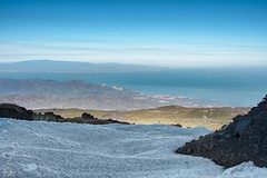 View from Etna.. North side (fabioscrima) Tags: etna snow snowing sun spring sea view landscape blue sky mountains sicily italy atmosphere beautiful amazing