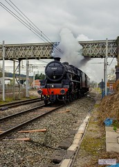 45407 Lancashire Fusileer (AKphotographyStaffordshire) Tags: 460 tracks track lines railway scotland midland london lms line coast west main wcml lec2 kev staffordshire stafford akphotography amanda weller karl networkrail rail network nwr crossing colwich diamond d7200 nikon clagtastic steamer steamers steaming steam smoke clag black5 blackfive five 5 black 45407 lancashire fusilier