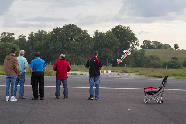 On the flight line with Dave pulling up.