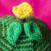 Another green flower hat (stitchling) Tags: flowerpower knitty