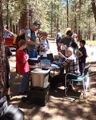 "002 Marvin Is Mobbed (saschmitz_earthlink_net) Tags: california download orienteering mtpinos 2014 lospadresnationalforest kerncounty epunch laoc campground"" ""mcgill losangelesorienteeringclub marvinjohnston"