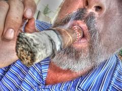Relaxed Afternoons (Spebak) Tags: selfportrait up self beard close smoke cigar cao ash selfshot selfie smokecigars spebak