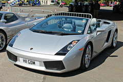 Lamborghini Gallardo Spyder (CA Photography2012) Tags: auto ca car museum photography italian italia day convertible automotive spyder exotic lamborghini supercar v10 gallardo sportscar brooklands lambo 2014 h11gdm