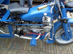 1972 Moto Guzzi Ercole trike, detail (Davydutchy) Tags: show holland classic netherlands car june tipper ride meeting moto trike motoguzzi friesland ercole guzzi 2014 joure fryslân driewieler vroem kieper dejouwer vroem2014