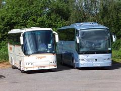 Henshaws YJ06GKU LX03KPG Jacksdale (Guy Arab UF) Tags: bus buses mercedes benz coach independent depot nottinghamshire futura bova jacksdale henshaws 1836l lx03kpg yj06gku