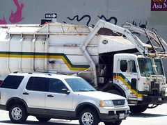 Pasadena Public Works Garbage Truck (Photo Nut 2011) Tags: california ford trash losangeles garbage junk waste pasadena refuse suv sanitation peterbilt garbagetruck trashtruck wastedisposal pasadenapublicworks