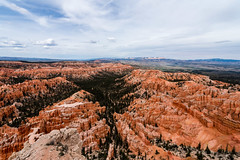 Bryce Canyon, Utah - with hiking trail in the bottom of the canyon, from Bryce Point (MikePScott) Tags: camera trees usa lens utah rocks unitedstates amphitheatre canyon cliffs hoodoo bryce topography fairychimney brycecanyonnationalpark tentrock brycepoint earthpyramid nikond600 nikon1424mmf28