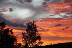 Soir d'été (sosivov) Tags: sunset red summer sky orange silhouette clouds cloudy sweden coucherdesoleil summernight