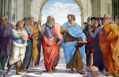 Raphael, Plato and Aristotle (close)