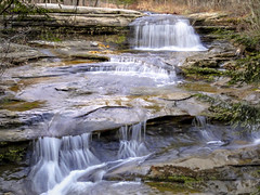 Waterfall (M$ingh.) Tags: statepark travel ohio nature water landscape waterfall sony conservation cybershot sonycybershot hockinghillsstatepark thechallengefactory