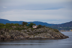 Homes with a view (MeganSpooner) Tags: seascape norway landscape coast scenic rocky bergen rugged