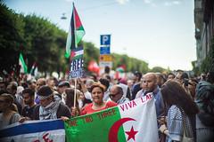 Demonstration in support of the Gaza population (staca) Tags: sweden stockholm genocide manifestation gaza palestinians 2014 noctilux50mmf1 gazaunderattack sonya7r zionistmassacreingaza