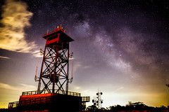 Mt. Wachusett Milky Way (Donal James Boyd) Tags: light sky mountain ski tower night clouds photoshop radio way stars ma long exposure glow massachusetts band images astro astrophotography pollution western summit noise gazing milky stacked worcester reduced reduction