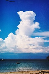 Clouds over the Pacific (stevelamb007) Tags: sunset sky cloud snow storm hail sunrise rainbow lightening costaricapacificoceanbeachwithtallcloud