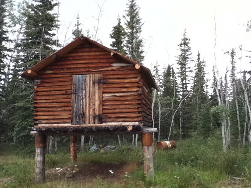 Fort Selkirk cache building
