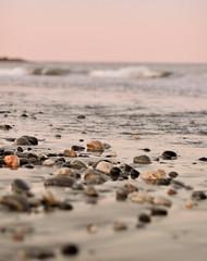(Kylee Vincent Photography) Tags: ocean pink sunset sea summer seascape beach silhouette sunrise photography 50mm coast nikon rocks waves purple dusk f14 newengland newhampshire nh pebbles rye powerlines summerevening ryenh settingsun d90 pinksun ryenewhampshire orangesun nikond90 fstop14 ryenorthbeach kyleevincentphotography kyleevincent kyleeuliano fossbeachnh fossbeachryenh fossbeachrye fossbeachryenewhampshire fossbeachnewhampshire