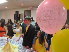 Reyna Amarilis Molina Martinez, Nya Jimenez, Gustavo Izaguirre, Audrey Izaguirre Nunez at Quinceañera party (RYANISLAND) Tags: birthday family girls girl 14 15 birthdayparty spanish espanol latin latino hispanic latina 2014 quinceañera
