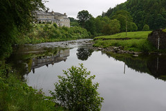 Peace comes from within (Lancashire Lass ...... :) :) :)) Tags: trees summer water grass june reflections river inn woods lancashire explore whitewell innatwhitewell ribblevalley forestofbowland riverhodder waterleveldepthgauge