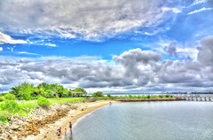 A Break in the Clouds (Greenstyle1) Tags: ocean summer beach sc water clouds island james harbor pier sand charleston shelling ashleyriver