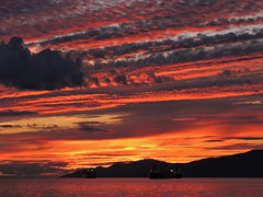 August 27 sunset (SqueakyMarmot) Tags: sunset summer orange vancouver seawall englishbay stanleypark 2014