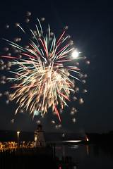 International Homecoming Festival Fireworks # 2 (wayneporter2014) Tags: summer lighthouse canada festival canon colours seasons fireworks newbrunswick wharf nightscene stcroixriver ststephen calaismaine