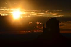 Sunrise, Monument Valley, Arizona (Williams5603) Tags: arizona sunrise navajo monumentvalley navajonation d5100