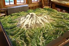 Replica of Mount Rainier landscape (daveynin) Tags: mountain landscape volcano nps map replica mountrainier deaftalent deafoutsidetalent deafoutdoortalent