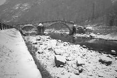 Ponte di Echallod (Enrico L. ) Tags: bridge bw landscapes italia bn ponte di paesaggi biancoenero valledaosta vecchioponte arnad top20bridges echallod pontediechallod pontesettencentesco