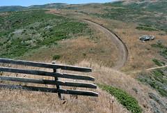 Private Road, Northern California, 1997 (Roger Gerbig) Tags: california 35mm slidefilm canonf1 135film canonfd35105f35 kodakeb2100 rogergerbig