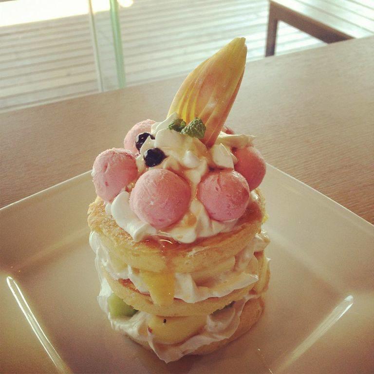 水果百匯美式鬆餅塔