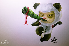 Teemote ! (HeyNat!) Tags: game cute illustration paint lol legends league ilustracion acrilic teemo