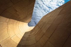 OUT THERE (Rober1000x) Tags: shadow summer sky abstract architecture arquitectura europa europe bilbao architect verano minimalism curve frankgehry bilbo paisvasco paysbasque 2014 cantabrico riabilbao