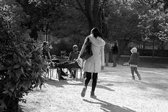 ParisSmoker (alexDadams) Tags: bw paris statueofliberty smoker luxembourggarden cigarettesmoke