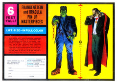 Frankenstein and Dracula Pin-Up Masterpieces, 1964 (Tom Simpson) Tags: vintage advertising ad dracula advertisement frankenstein frankensteinsmonster 1964