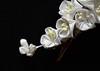 white lilac 03 (Bright Wish Kanzashi) Tags: flower handmade silk lilac clasic tsumami kanzashi hairornament lilachairwreath