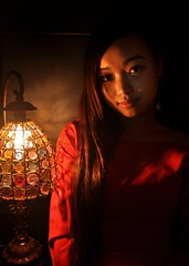 Sichuan Girl & Lamp, 2014 (A China) Tags: china girl chinadigitaltimes shenzhen chinesegirl