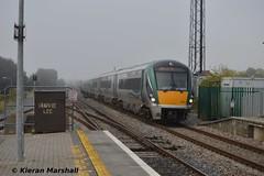 22058 passes Portlaoise, 21/9/14 (hurricanemk1c) Tags: irish train rail railway trains railways irishrail rok rotem 2014 portlaoise icr iarnrd 22000 22058 ireann iarnrdireann 3pce gaaspecial 0750killarneyheustongaa