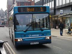 Arriva Cymru Dennis Dart SLF 10.7M Plaxton Pointer 2 2258 (X258 HJA) (Michael's Transport Pictures) Tags: chester slf dennisdart foregatestreet plaxtonpointer2 arrivacymru x258hja