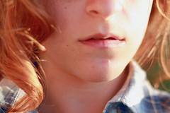 R. (RobertaRanieri) Tags: light sunset red portrait face portraits hair lights golden skin lips redhead curly hour portraiture goldenhour